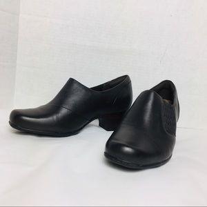Clarks Dress Pump Black Sugar Maple Leather 7.5 W